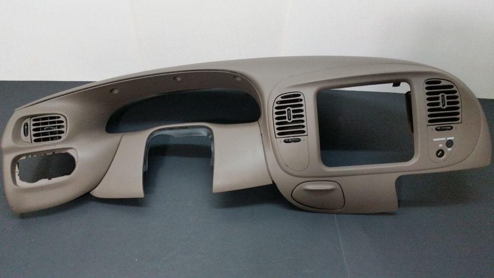 1997 1998 F 150 Light Duty F 250 4x2 Dash Vent Trim Radio Bezel Brown A353 Fordoem F250 Radio Ford Expedition