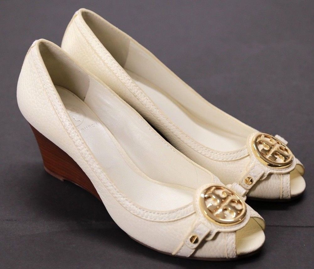 504e76780ba Tory Burch Women s Wedge Heel Peep Toed Size 7.5  ToryBurch   PlatformsWedges  DRESSCASUAL