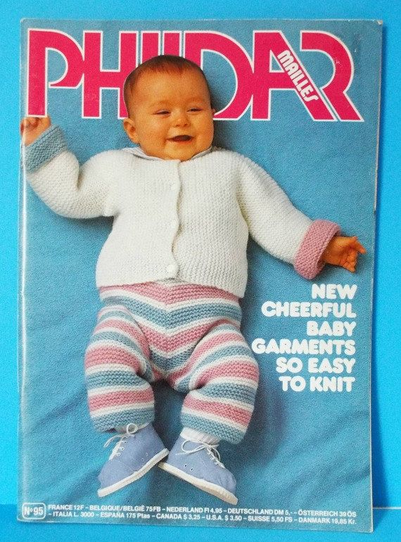 Phildar Knitting Pattern Book Baby Sweaters Tops Booties Outfits