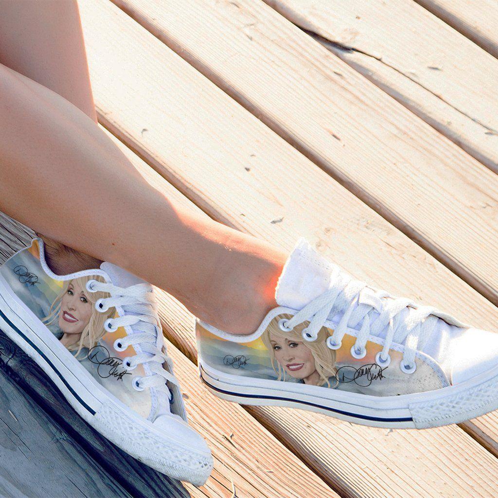 Dolly parton ladies low canvas shoes blue shoes top shoes