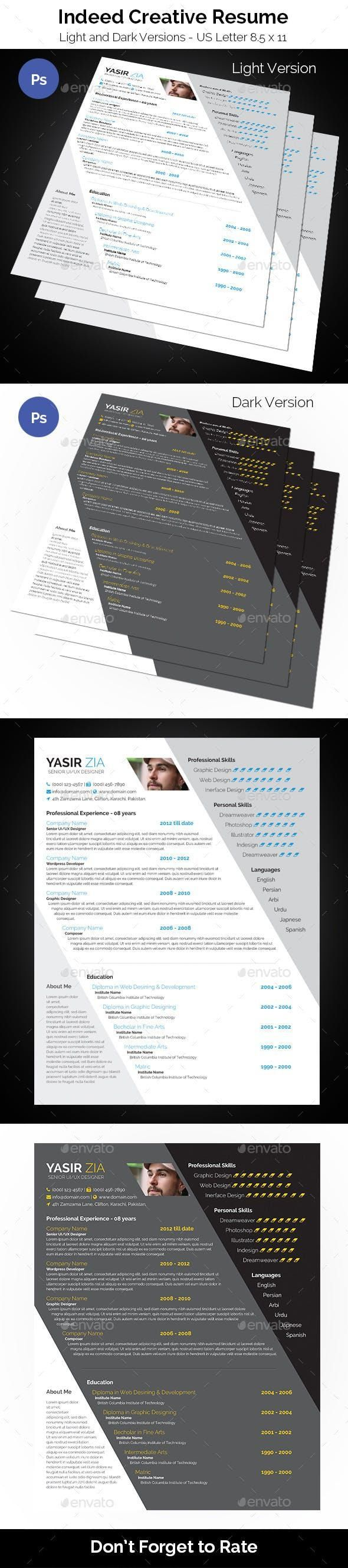 Indeed Creative Resume Creative resume, Creative resume