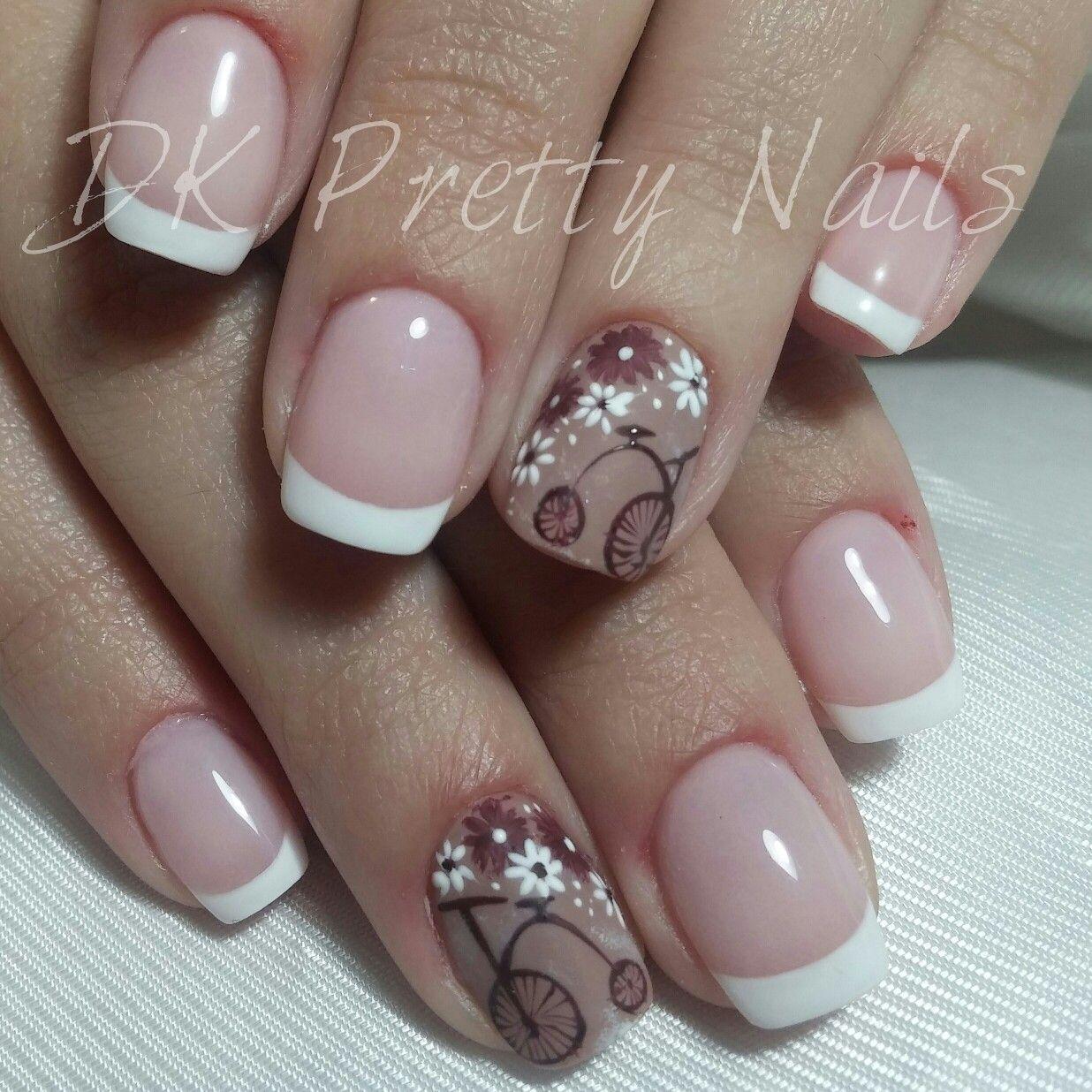 Nails #nailpolish #shellac #french #vintage #DK Pretty Nails | My ...
