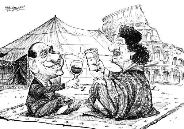 Gheddafi comes in Rome