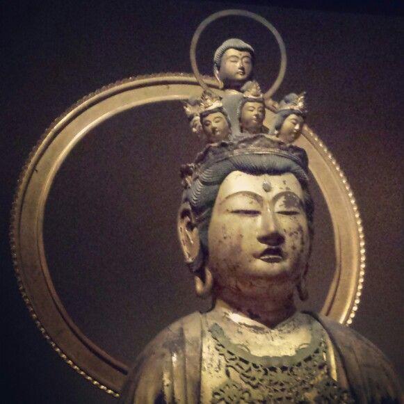 Crazy 6 headed buddha sculpture at the Metropolitan Art Museum in NYC  #sculpture #japaneseart #asianart #MetropolitanMuseumofArt #nyc #buddhistart #buddha
