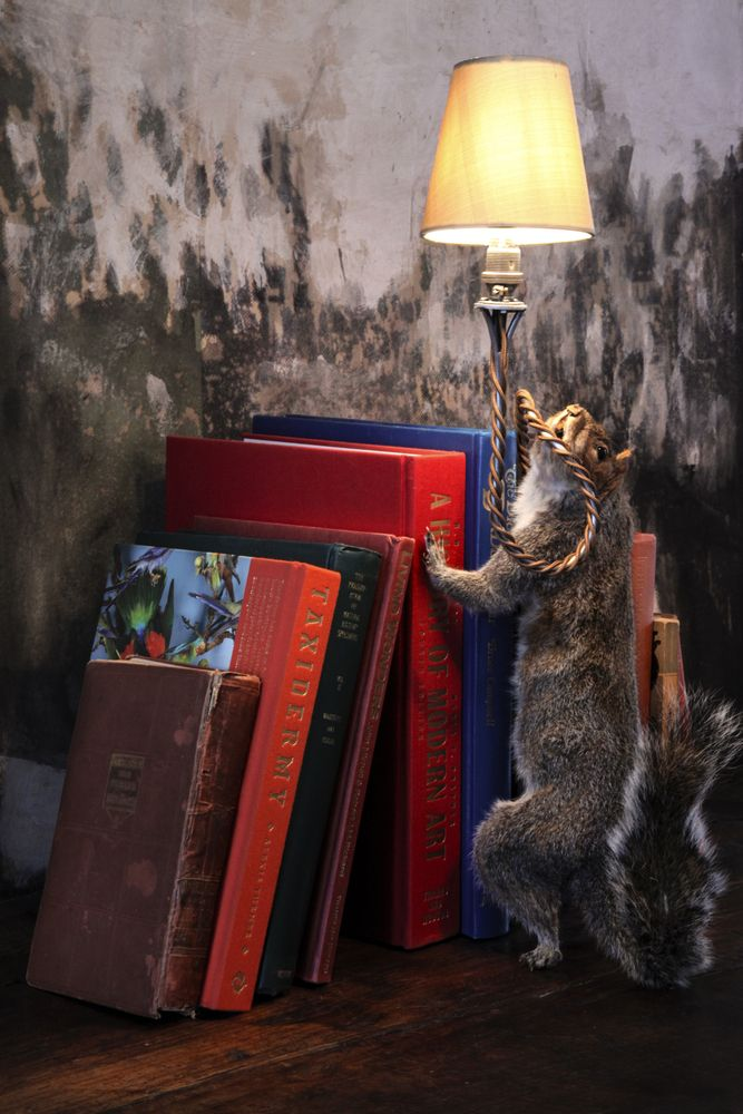 Squirrel Bookstand Lamp Atelier Randall
