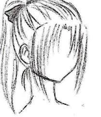 anime drawin  beginner sketches how to draw anime hair