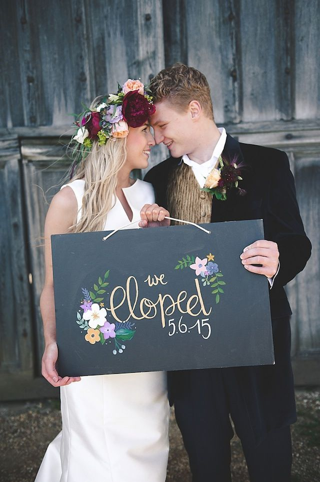 Elopement announcement | Bit of Ivory Photography | see more on: burnettsboards.co...