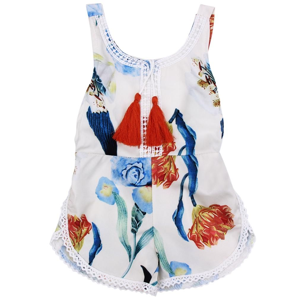 Baby Romper Summer Kids Children Sleeveless Floral Girl Rompers Hammock Jumpsuit Sun suit