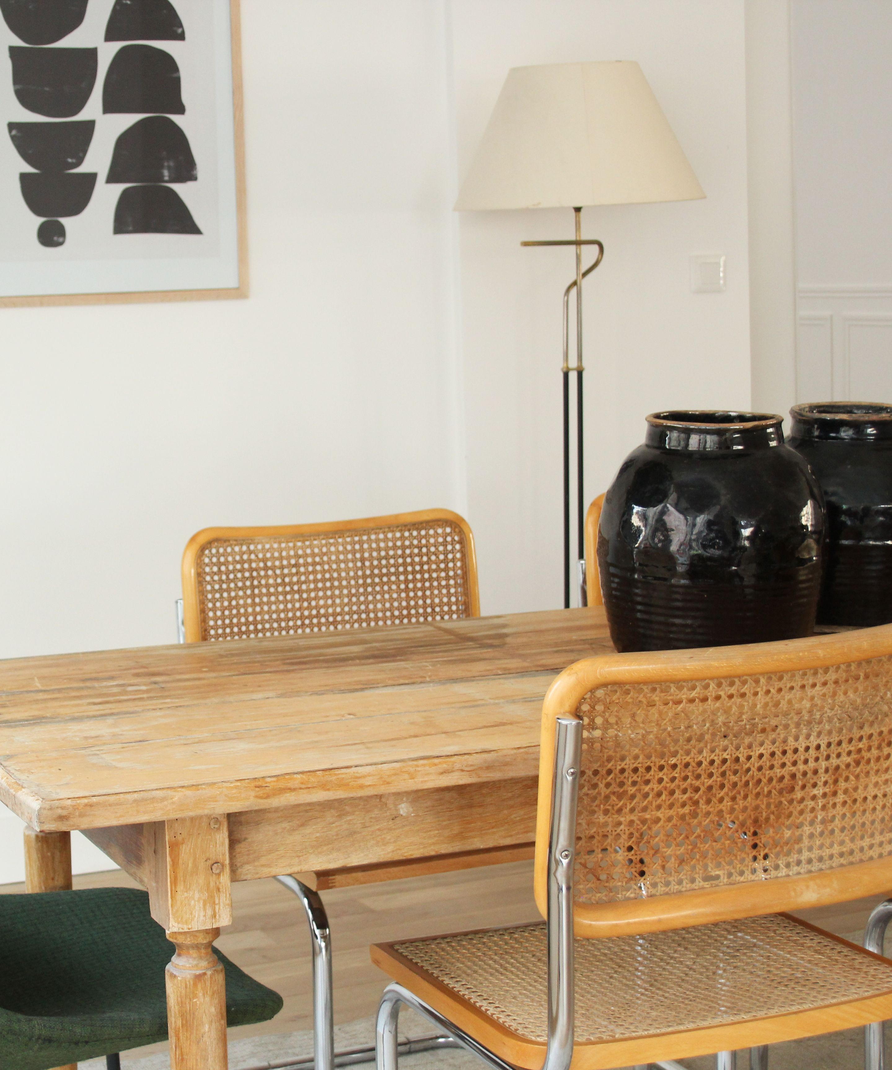 New trend painted chairs with dipped or raw legs jelanie -  Selency Dining Room Breuer Chair Jarre Ethnic Home