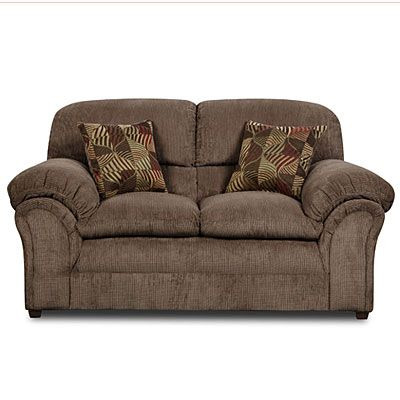 Simmons® Champion Mocha Loveseat With Pillows at Big Lots ...