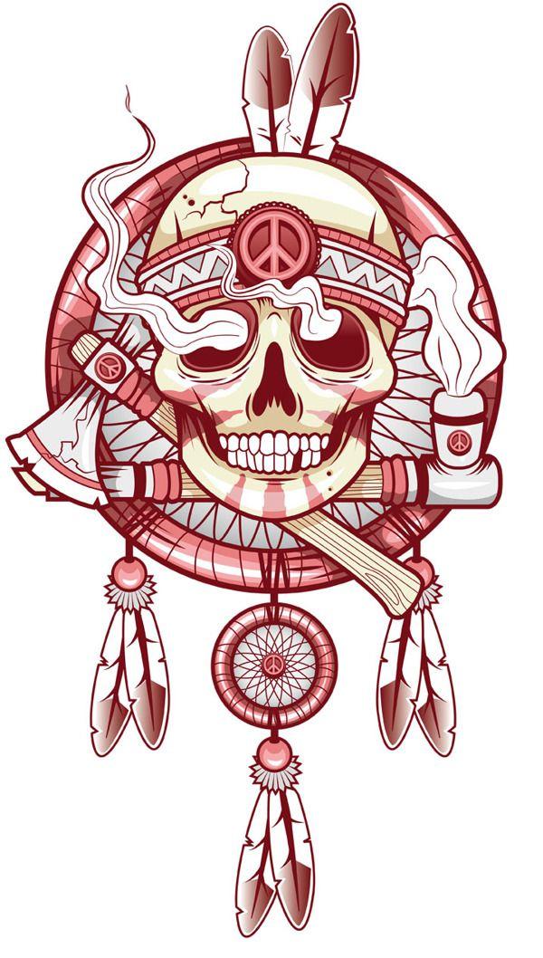 Indien inspiration tatouage pinterest indiens tatouages et dessin - Tatouage crane indien ...