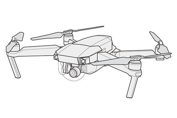 Mavic Pro Vector Drone By Stypeface On Creativemarket