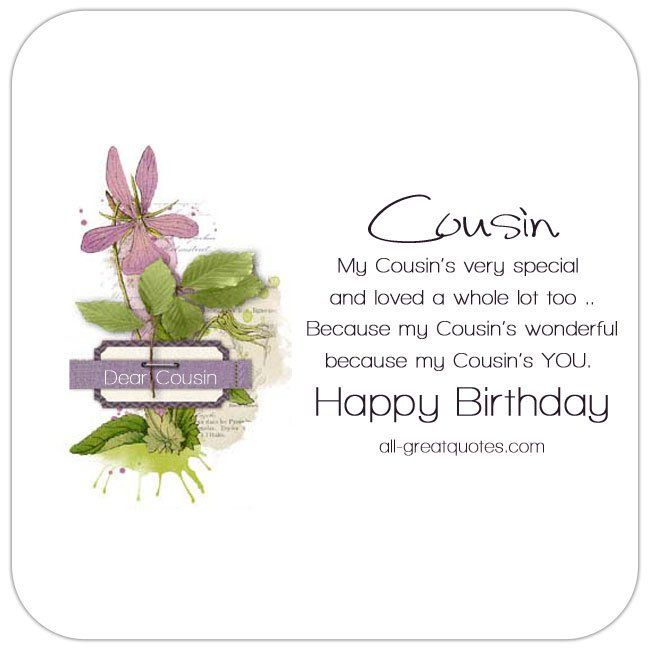 Happy Birthday Cousin My Cousin S Very Special And Loved Happy Birthday Cousin Happy Birthday Wishes Cousin Cousin Birthday