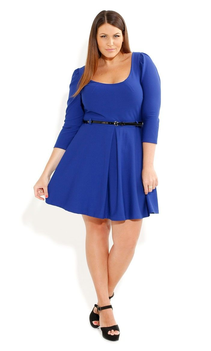 Plus Size Ice Skater Dress - City Chic - City Chic | Apparel ...