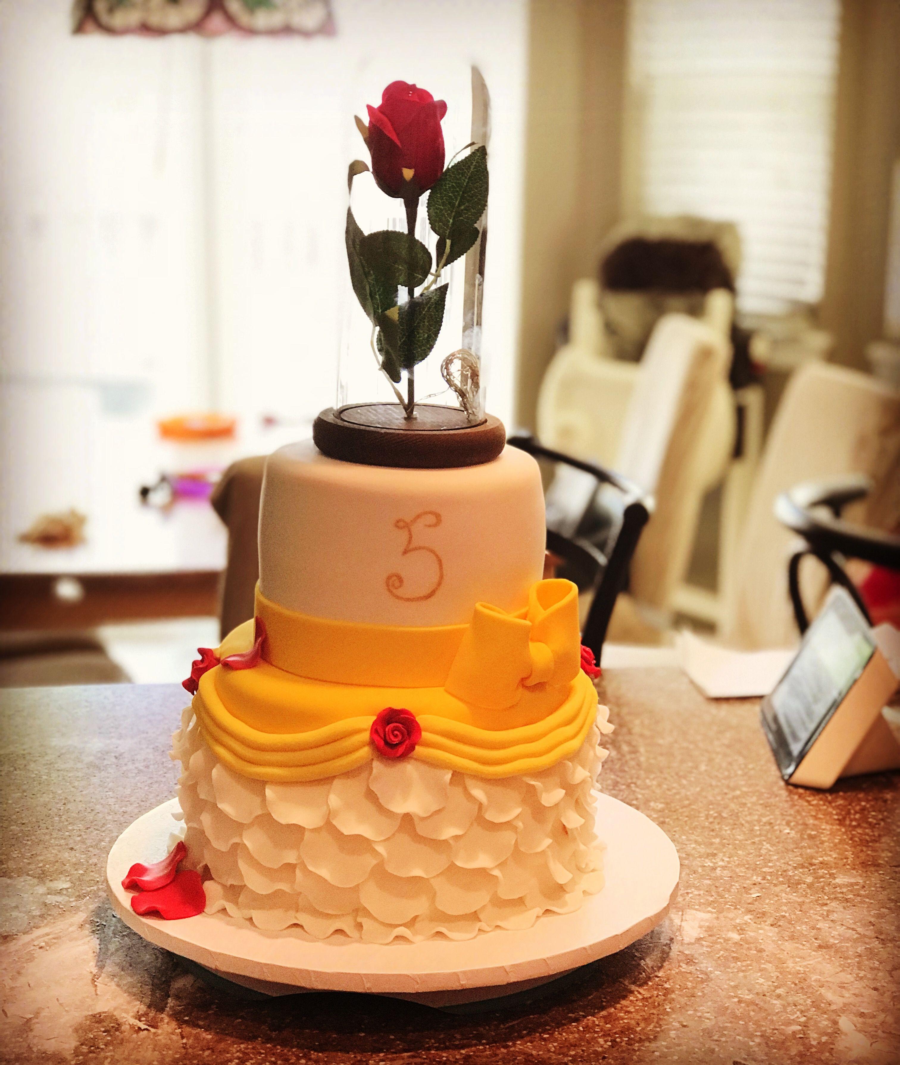 Beauty and the beast cake cake my daughter birthday