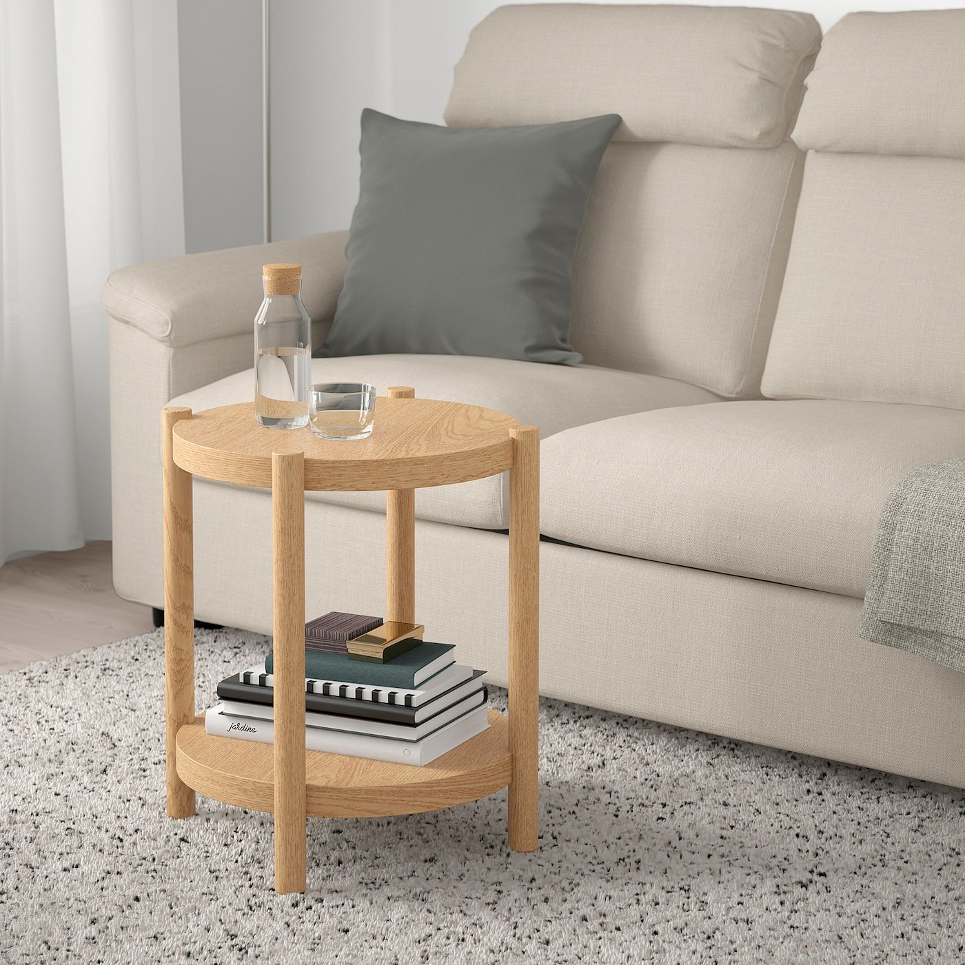 Listerby Coffee Table White Stained Oak 55 1 8x23 5 8 Ikea Ikea Coffee Table Coffee Table Oak Coffee Table [ 1400 x 1400 Pixel ]