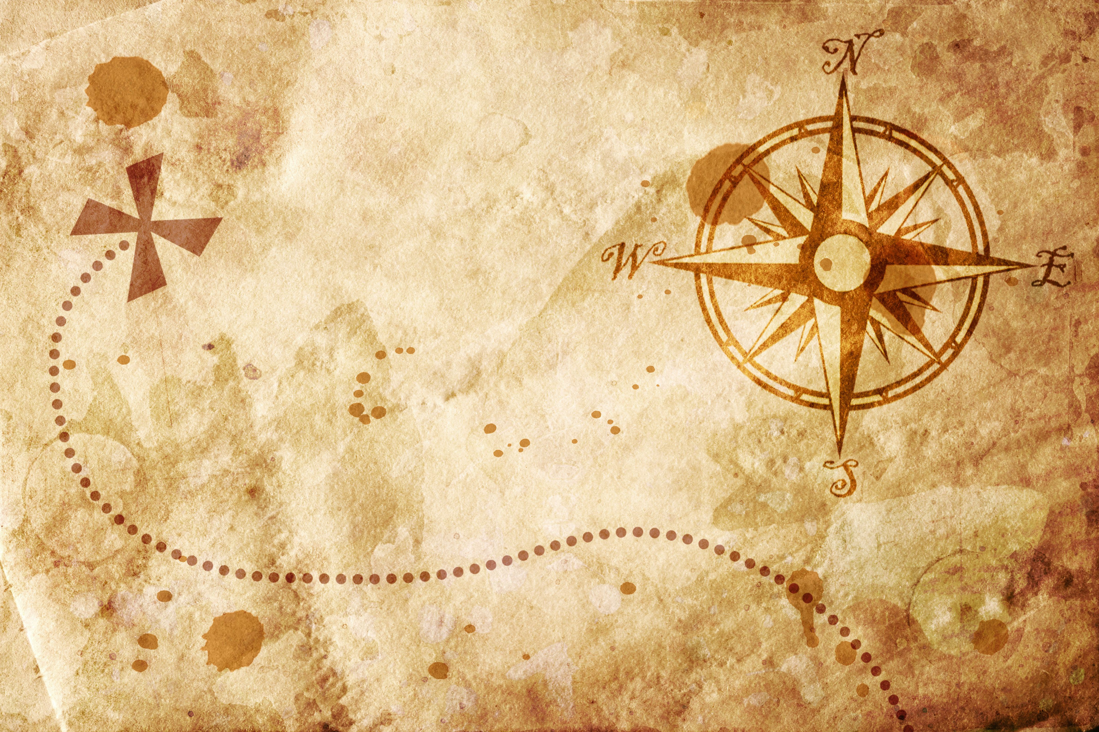 Old Map With A Compass On It Old Map Pirate Maps Map Wallpaper