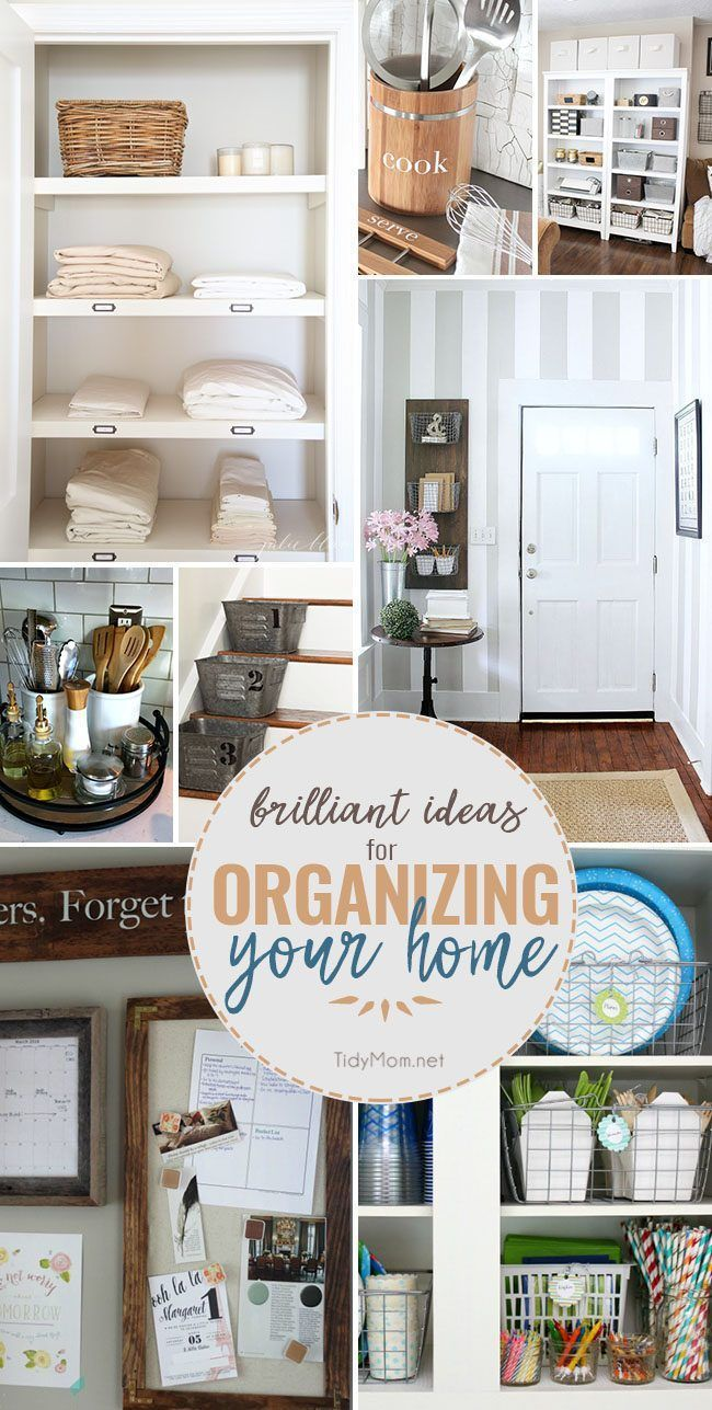 Brilliant Ideas for Organizing Your Home | Pinterest | Organizing ...