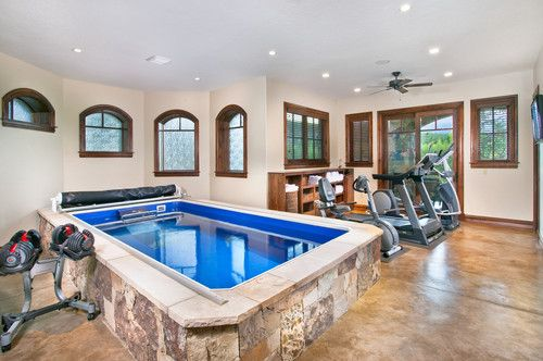 traditional home gym by pinnacle mountain homes gym w in home lap pool and views of the. Black Bedroom Furniture Sets. Home Design Ideas