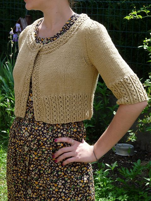 Bolro Paso By Therese Scotto Free Knit Pattern In English French