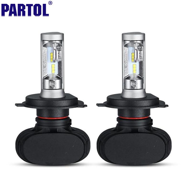 Partol H4 H13 H7 H11 9005 9006 LED Car Headlight Bulbs 50W 8000LM CREE Chips CSP Headlights All In One Head Lamp Front Light