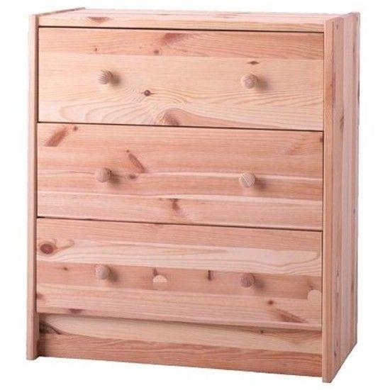 3-Drawer Bedroom Dresser Chest Clothes Storage Cabinet Unfinished ...