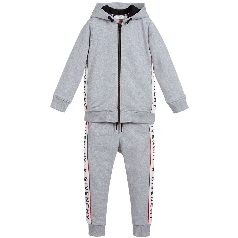 8f921a7f2 Boys Grey Logo Tracksuit for Boy by Givenchy Kids.