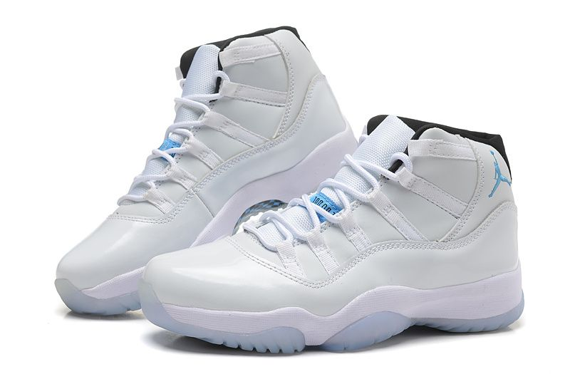 072509798c4d32 Girls Air Jordan 11 (XI) GS White Blue For Sale Womens Size