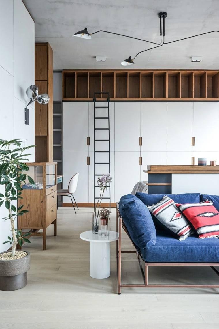 Home-office-innenarchitektur ideen kleine wohnung design drei moderne innenräume  innenarchitektur