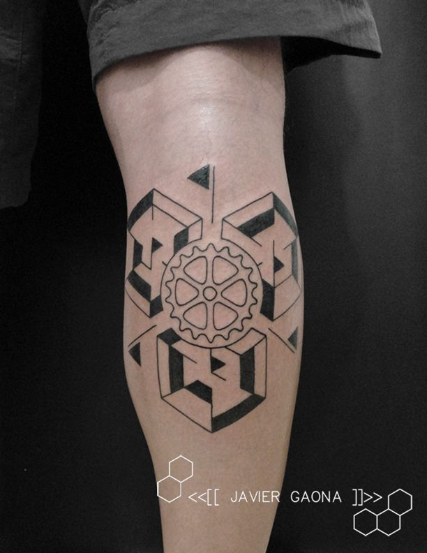 Bicycle Geometric Synthesis Tattoo Tattoos Tatus Tatuajes