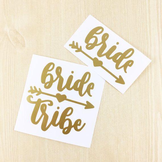 Bride Tribe Decal Bride Trive Vinyl Sticker Bride Trive Car Etsy