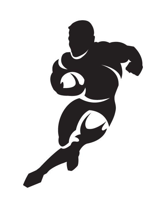Concept Only Logo For Rugby Brand Dessin Rugby Joueur De Rugby Pochoir Silhouette