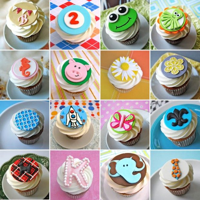 Decorate store-bought cupcakes with fun fondant toppers ...