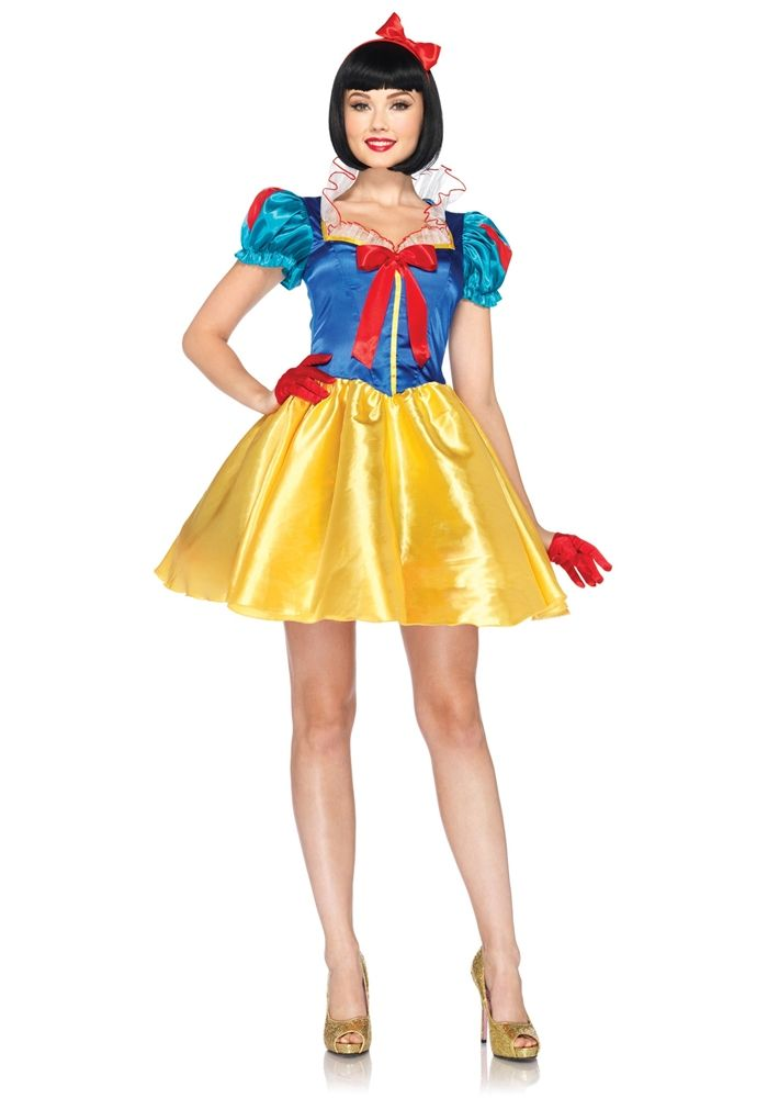 Sexy Classic Snow White Adult Womens Costume Snow white disney - womens halloween ideas