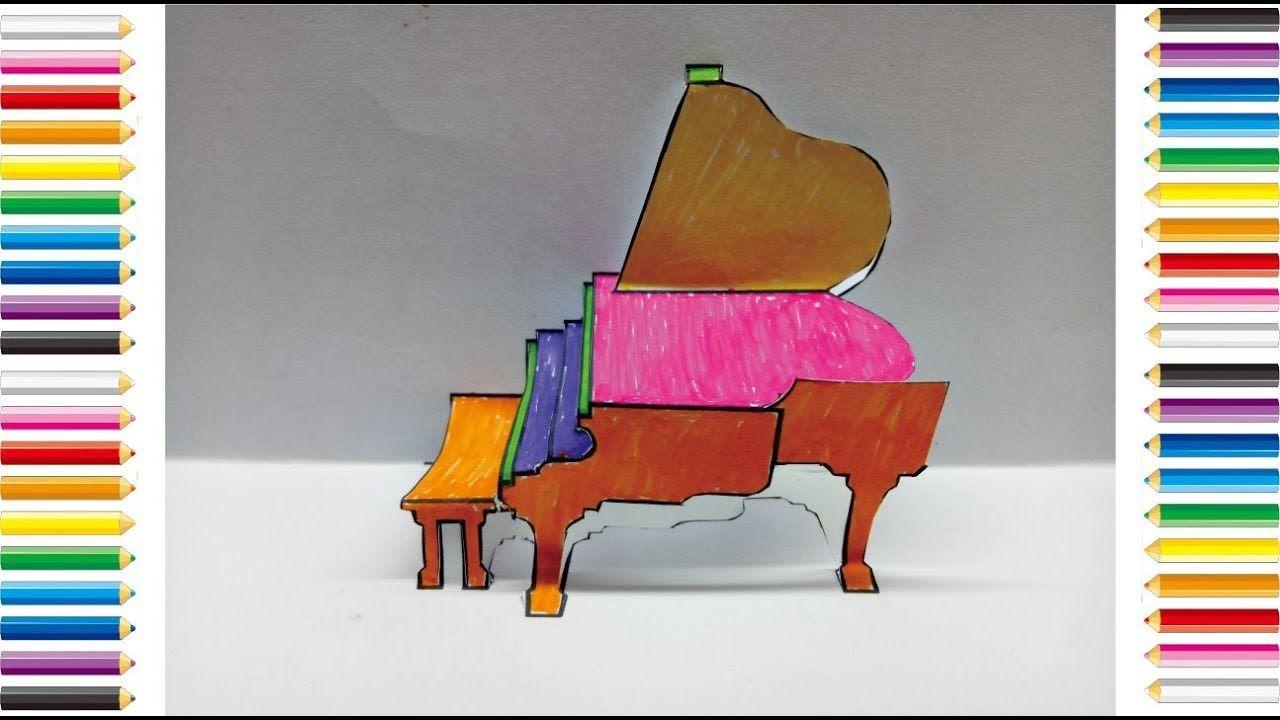Mewarnai Piano 3d Halaman Edukasi Anak Piano Anak