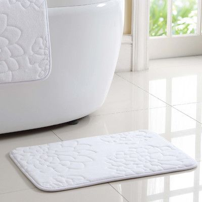 VCNY Kaden Bath Rug Color: White