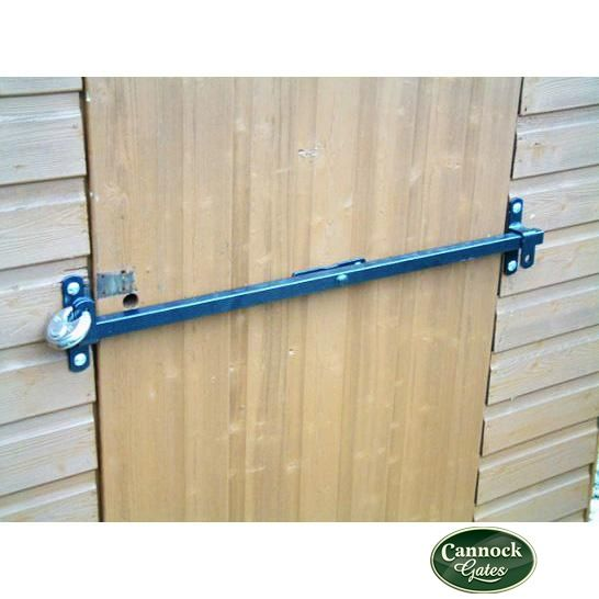 Shedbar Shed Door Security Lock Bar 750mm Door Exterior Doors Security Door Door Lock Security