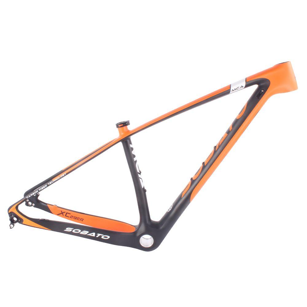 mtb frame 29er carbon fiber mountain bike hardtail frame size 1517 - Mountain Bike Frame Sizes