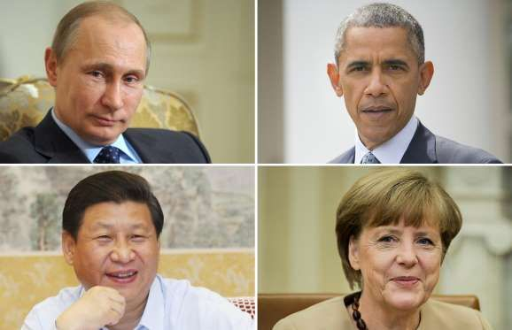 How much do the world leaders earn? - ALEXEY DRUZHININ/AFP/Getty Images; AP; Bloomberg; ZUMA/Rex Features