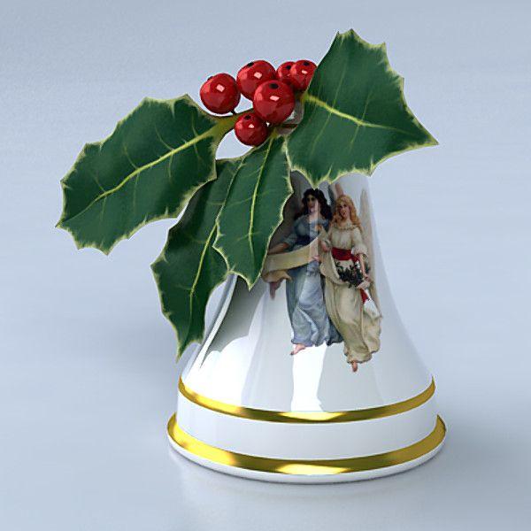 Porcelain Christmas bell