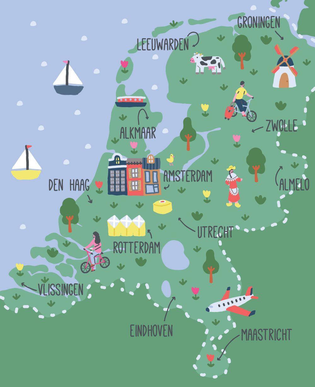 Netherlands O Paises Bajos Territorio Del Pais Esta Formado Por