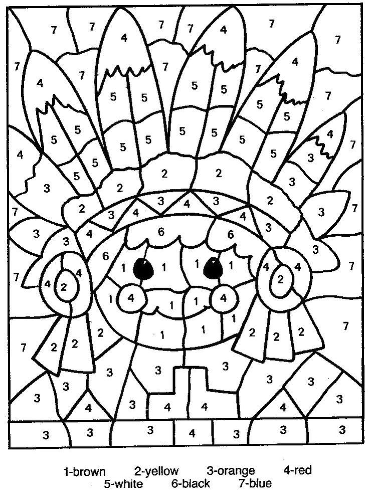 Printable autumn color-by-numbers pages! Free Coloring Pages - copy color by number advanced coloring pages