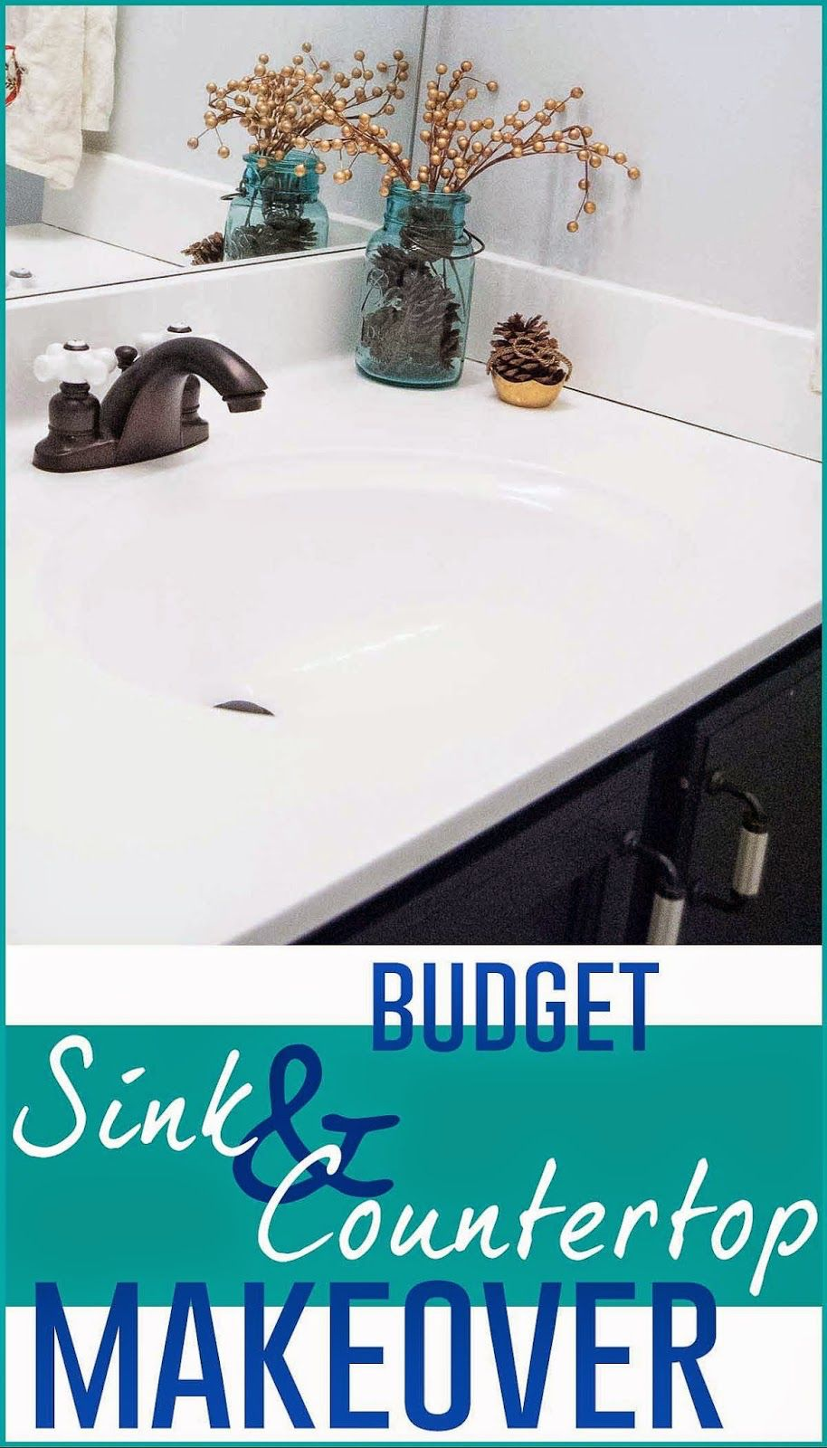 Painting a bathroom countertop | Countertop makeover, Sink ...