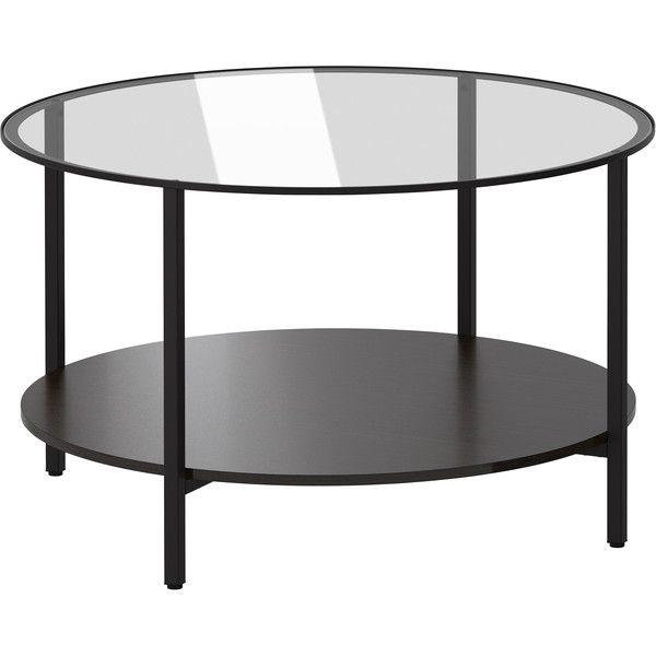 IKEA VITTSJÖ Coffee Table, Black Brown, Glass (14.010 HUF) Via Polyvore  Featuring Home, Furniture, Tables, Accent Tables, Coffee Table, Ikea, Blacku2026