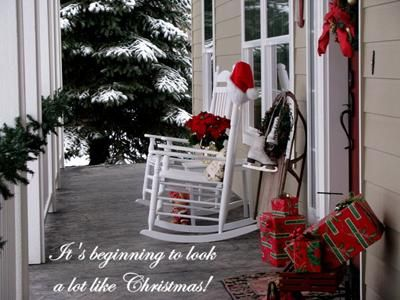 country christmas ideas porch decorating pictures for winter holidays - Country Christmas Decorations For Front Porch