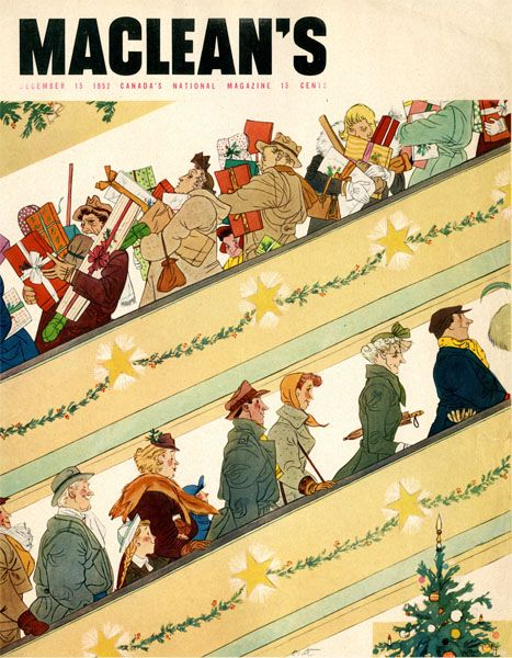 Cover Ilration By Oscar Cahen Yule Old Fashioned Christmas Holidays Ping