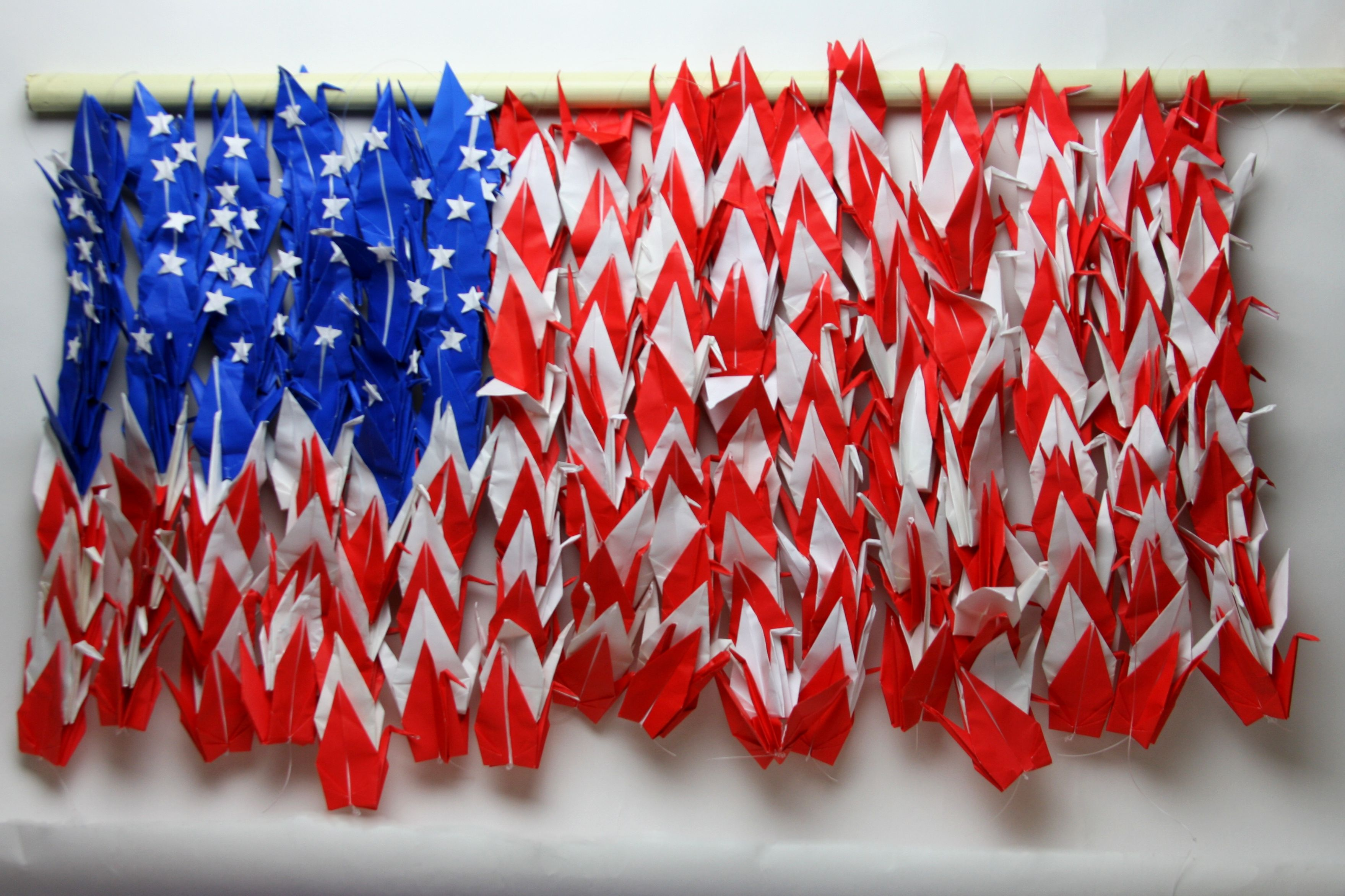 American Flag Origami Crane Collage That I Created American Flag Japanese Origami Origami Crane