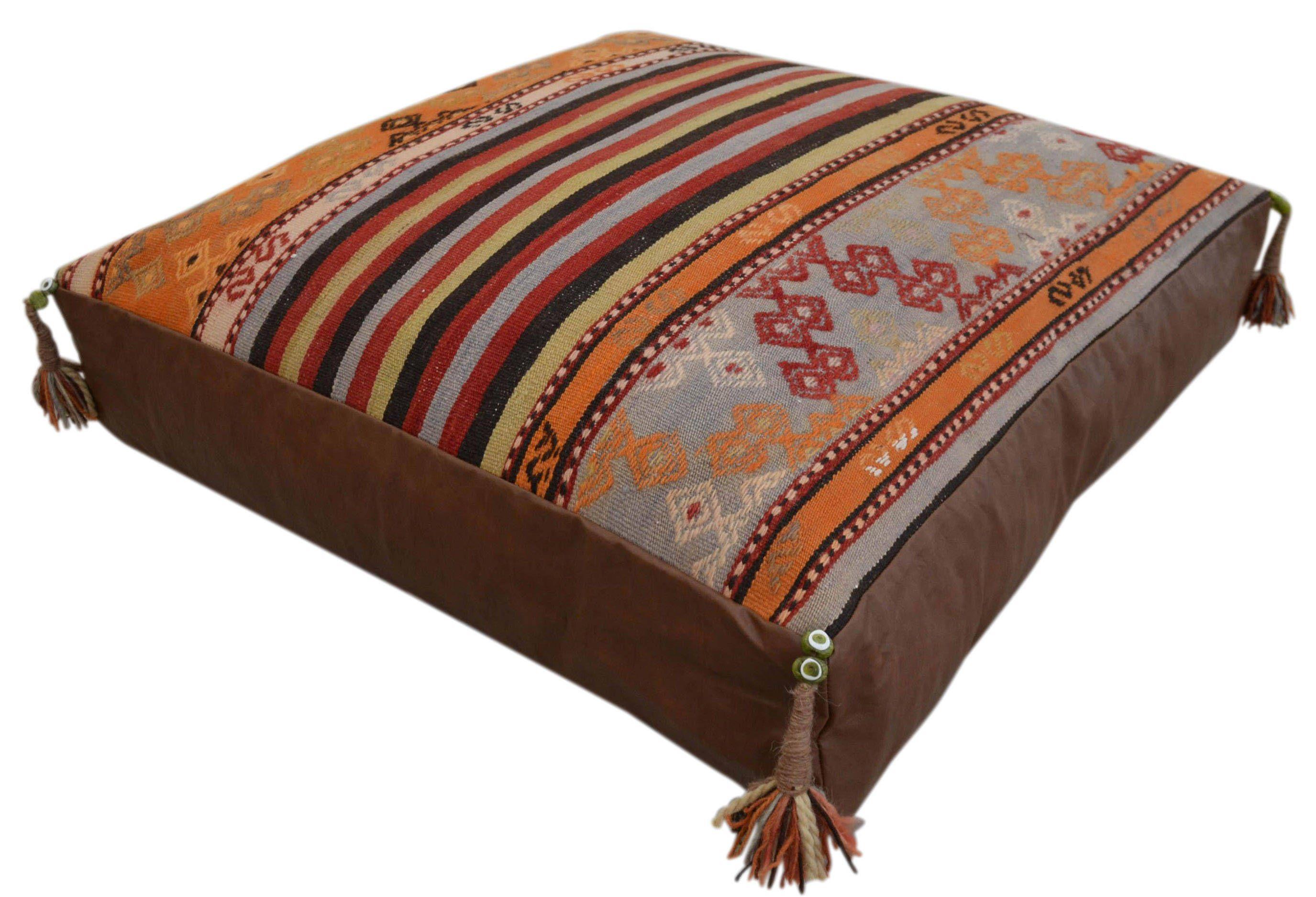 Hand Woven Floor Cushion - 30'' X 30'' Turkish Hand made ...
