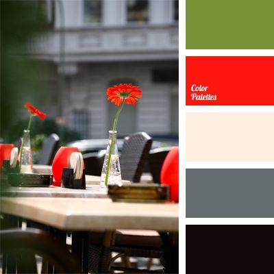Color Palette 604 Kitchen Colors Cream Walls Gray Cabinets Red And Green Accents