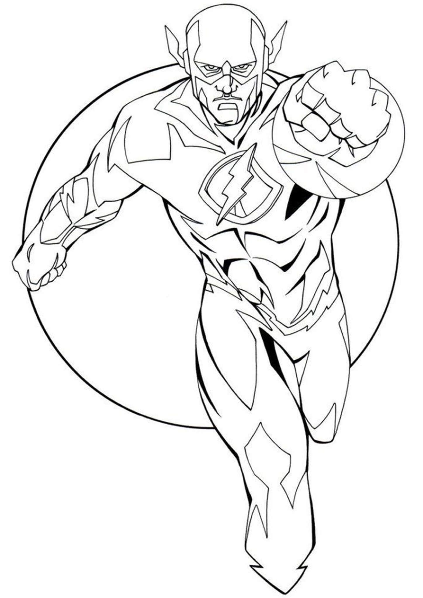 Free & Easy To Print Flash Coloring Pages  Superhero coloring